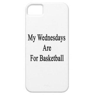 Mis miércoles están para el baloncesto iPhone 5 Case-Mate carcasas