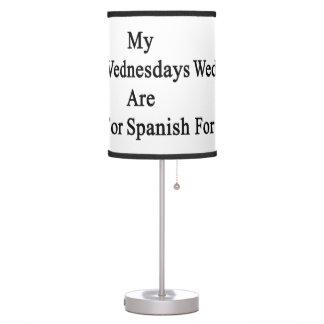 Mis miércoles están para el español