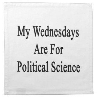 Mis miércoles están para la ciencia política servilletas imprimidas