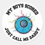 Mis muchachos anotaron apenas me llaman regalo del pegatina redonda