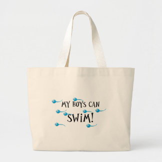 mis muchachos saben nadar bolsa tela grande
