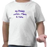 Mis nadadas del papá, montan y corren camiseta