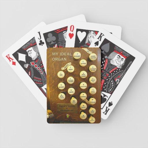 Mis naipes ideales del órgano cartas de juego