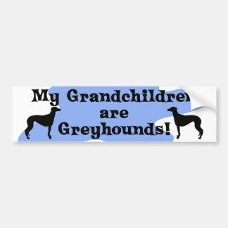 Mis nietos son pegatina para el parachoques de los pegatina para auto