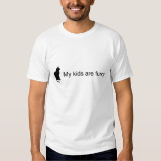 Mis niños son (camiseta peluda de la silueta del camisas