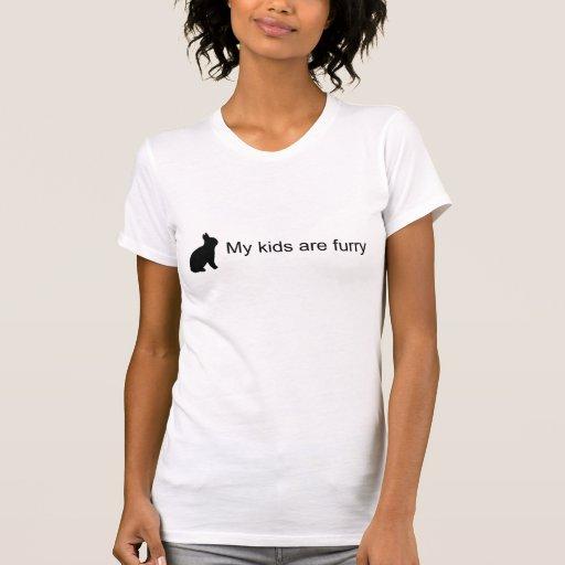 Mis niños son camiseta peluda (del conejito)