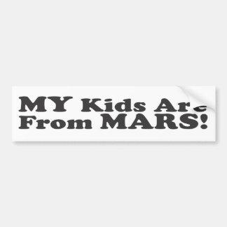 ¡Mis niños son de Marte! - Pegatina para el parach Etiqueta De Parachoque