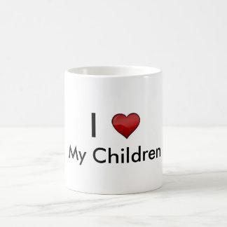 Mis niños taza básica blanca