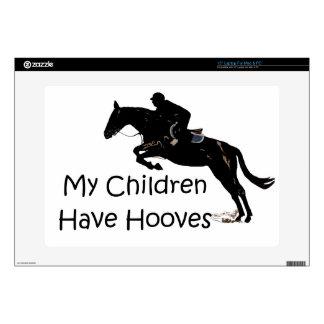 """Mis niños tienen caballo de los enganches 15"""" piel calcomanía para 38,1cm portátil"""