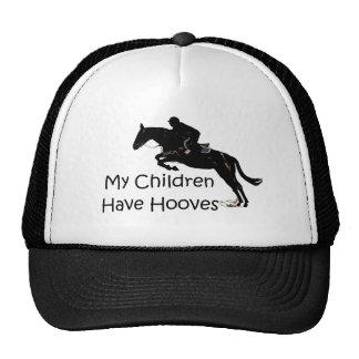 Mis niños tienen caballo de los enganches gorros bordados