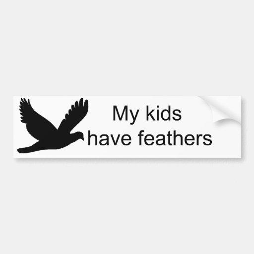 Mis niños tienen la pegatina para el parachoques d pegatina para auto