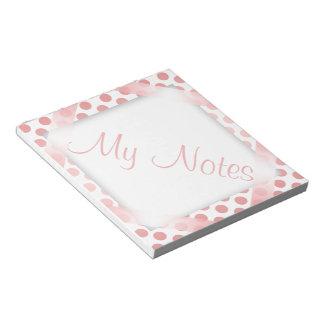 Mis notas en lunar rojo bloc de notas