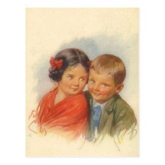 Mis ojos le adoran, amor adolescente del niño del postal