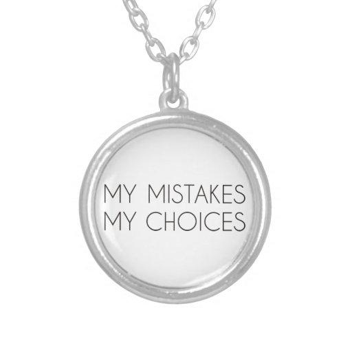 Mis opciones mis errores pendiente