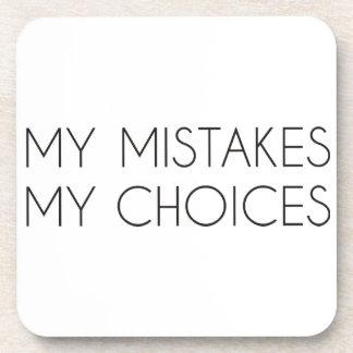 Mis opciones mis errores posavasos