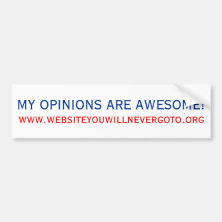 ¡Mis opiniones son impresionantes! Etiqueta De Parachoque