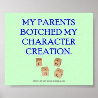 Mis padres remendaron mi creación del carácter poster