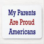 Mis padres son americanos orgullosos alfombrilla de ratones