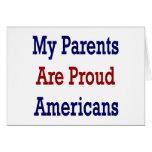 Mis padres son americanos orgullosos tarjeton