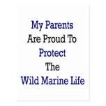 Mis padres son orgullosos proteger al Li marino sa Tarjetas Postales