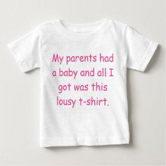 Mis padres tenían una camiseta del bebé