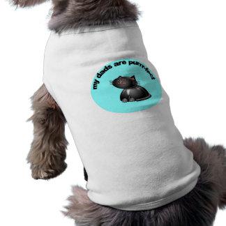 Mis papás son ronroneo-fect camiseta de perro