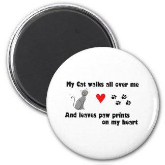 Mis paseos de gato por todo mí imán redondo 5 cm