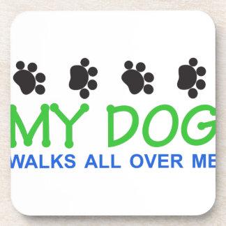 Mis paseos del perro posavasos de bebida