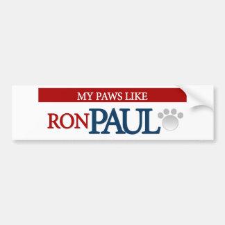 Mis patas tienen gusto de Ron Paul Pegatina De Parachoque