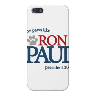 Mis patas tienen gusto de Ron Paul iPhone 5 Protectores