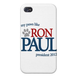 Mis patas tienen gusto de Ron Paul iPhone 4 Carcasa