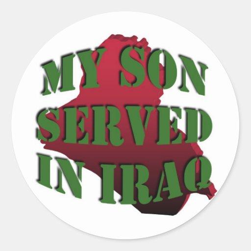 Mis pegatinas de Iraq del hijo (LG)