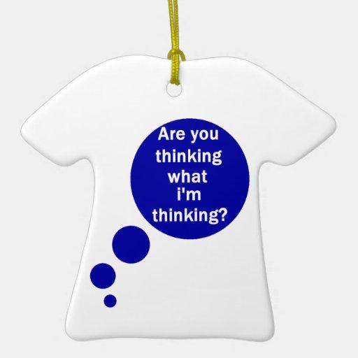 Mis pensamientos adorno de cerámica en forma de camiseta