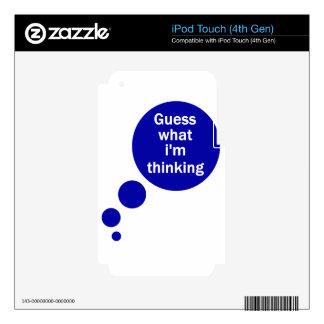 Mis pensamientos iPod touch 4G calcomanías