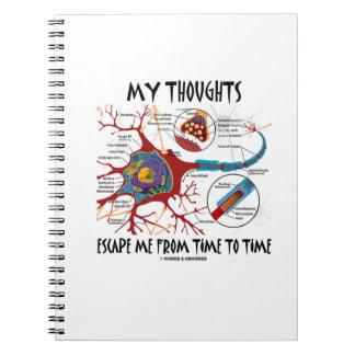 Mis pensamientos me escapan hora de medir el spiral notebooks