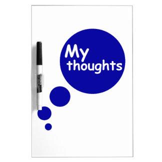 Mis pensamientos tablero blanco