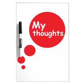 Mis pensamientos pizarras blancas de calidad