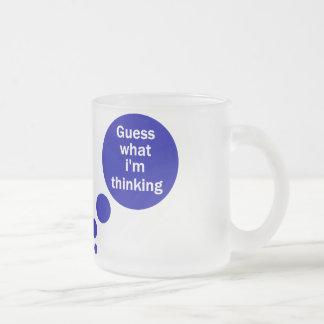 Mis pensamientos taza de café esmerilada