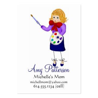 Mis pequeñas tarjetas de la mamá del artista tarjetas de visita grandes
