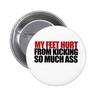 Mis pies dañados pin redondo de 2 pulgadas