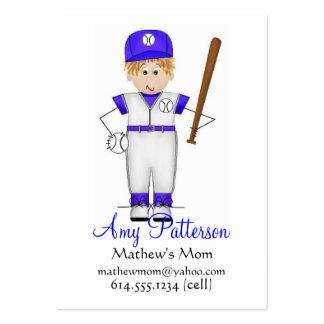 Mis pocas tarjetas de la mamá del jugador de béisb plantillas de tarjeta de negocio