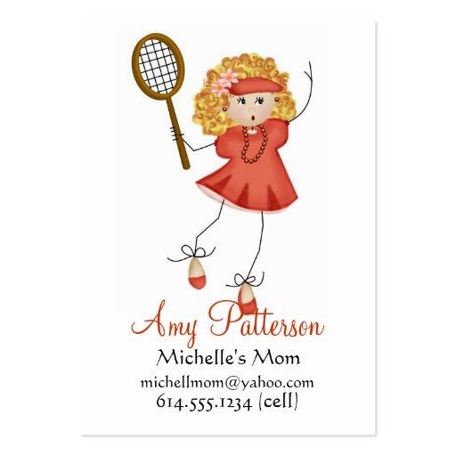 Mis pocas tarjetas de la mamá del jugador de tenis tarjetas de visita grandes