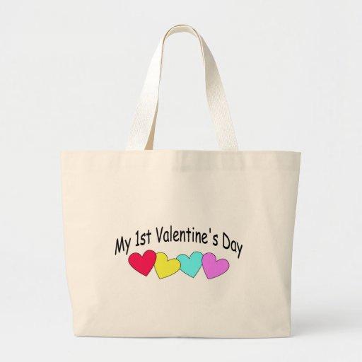 Mis primeros corazones del día de San Valentín Bolsa Tela Grande