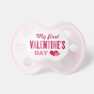Mis primeros corazones del el día de San Valentín Chupetes