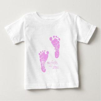 Mis primeros pasos - rosa playera de bebé