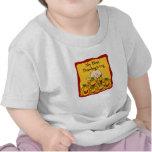 Mis primeros pumpkings del bebé y de la caída de camiseta