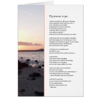 Mis promesas a usted… romance tarjeta de felicitación