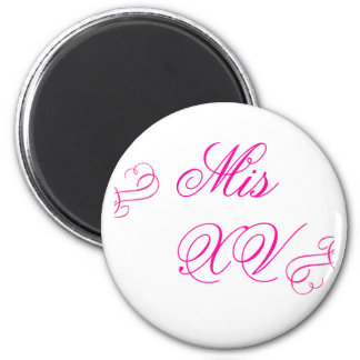 Mis Quince 2 Inch Round Magnet