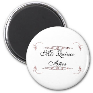Mis quince años 2 inch round magnet
