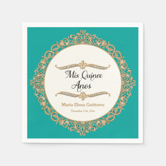 Mis Quince Anos Birthday Party Celebration Decor Paper Napkin